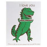 Love You This Much T-Rex Canvas Wall Decor